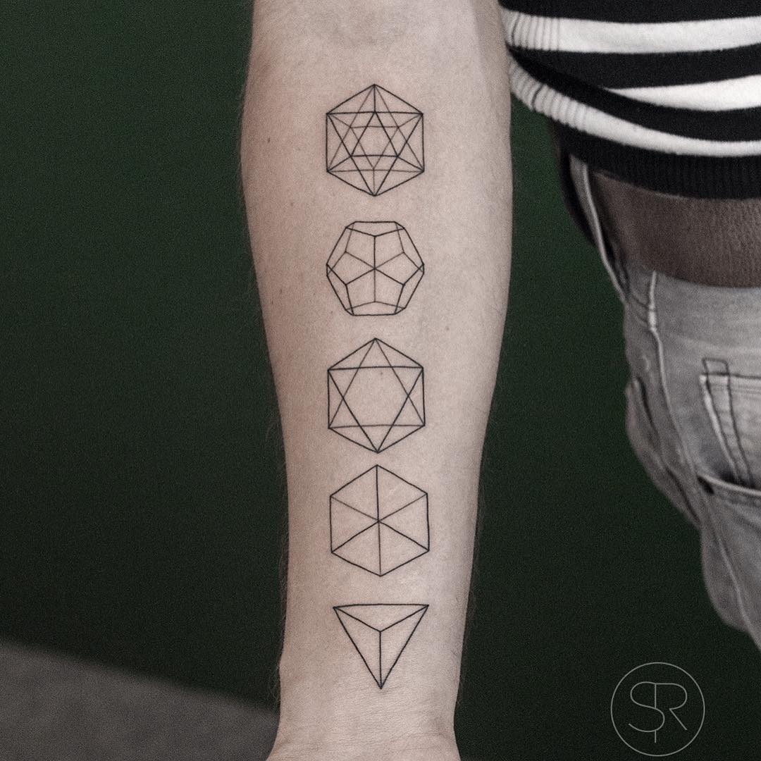 Arm Geometry Figures Tattoos