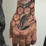 Bird Tattoo on Hand