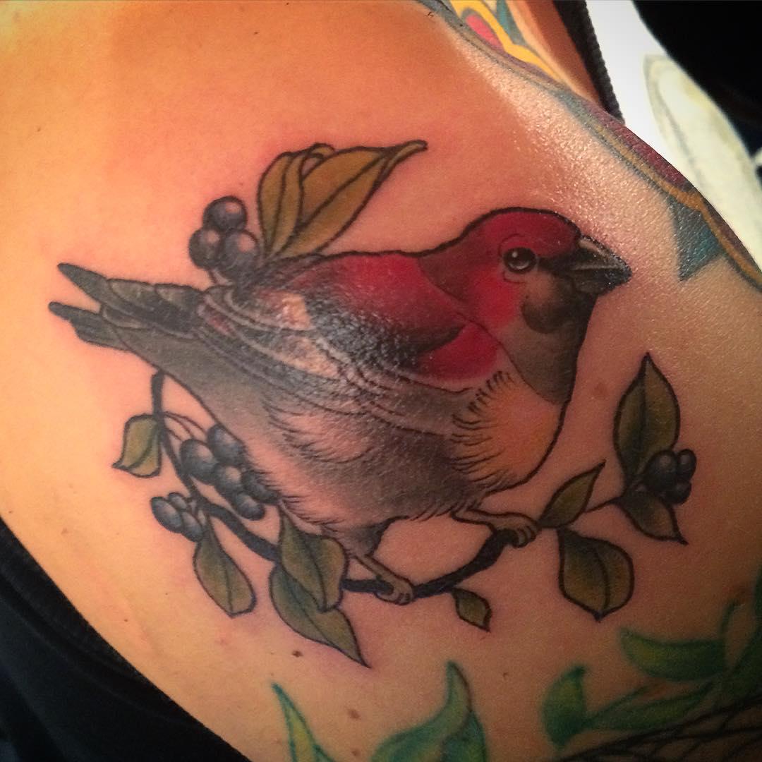 Bird Tattoo on Shoulder