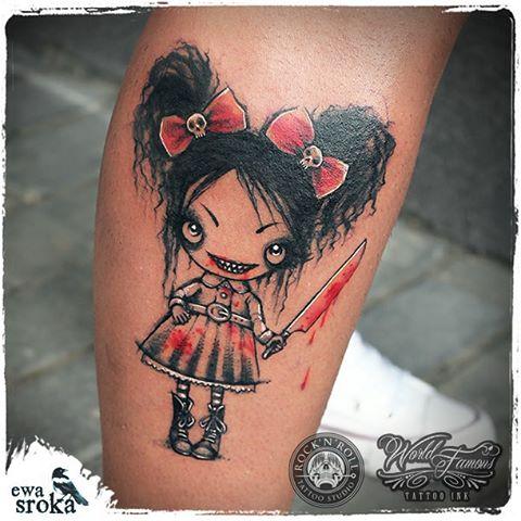 Evil Girl Tattoo