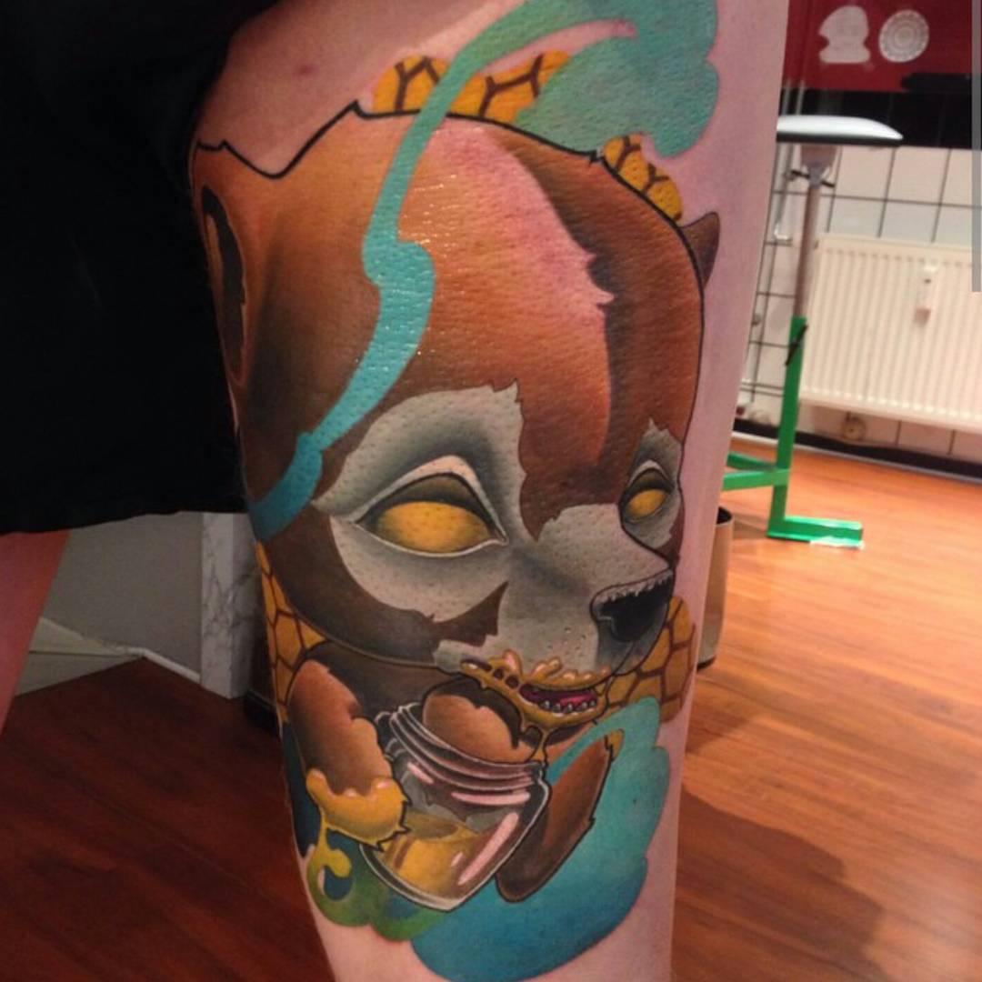 Evil Teddy Bear Tattoo