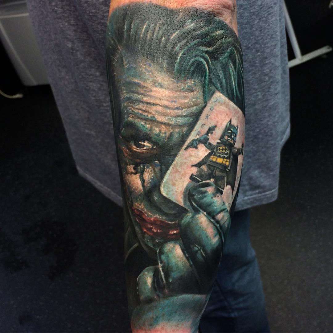 Joker Batman Card Tattoo