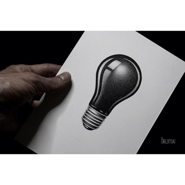 Light Bulb Tatto Design