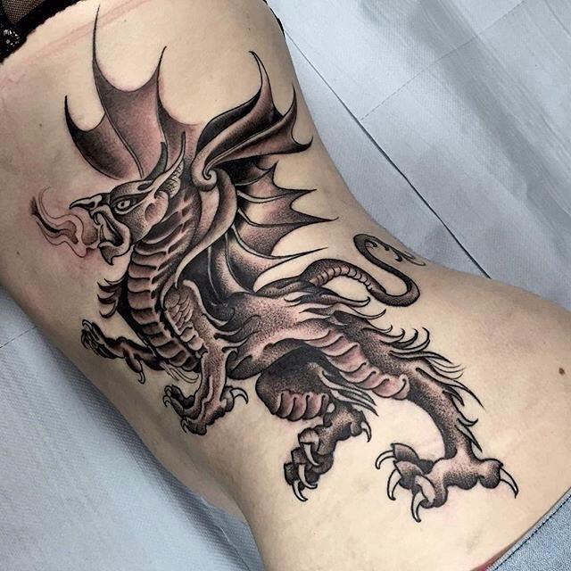 Medieval Dragon Tattoo