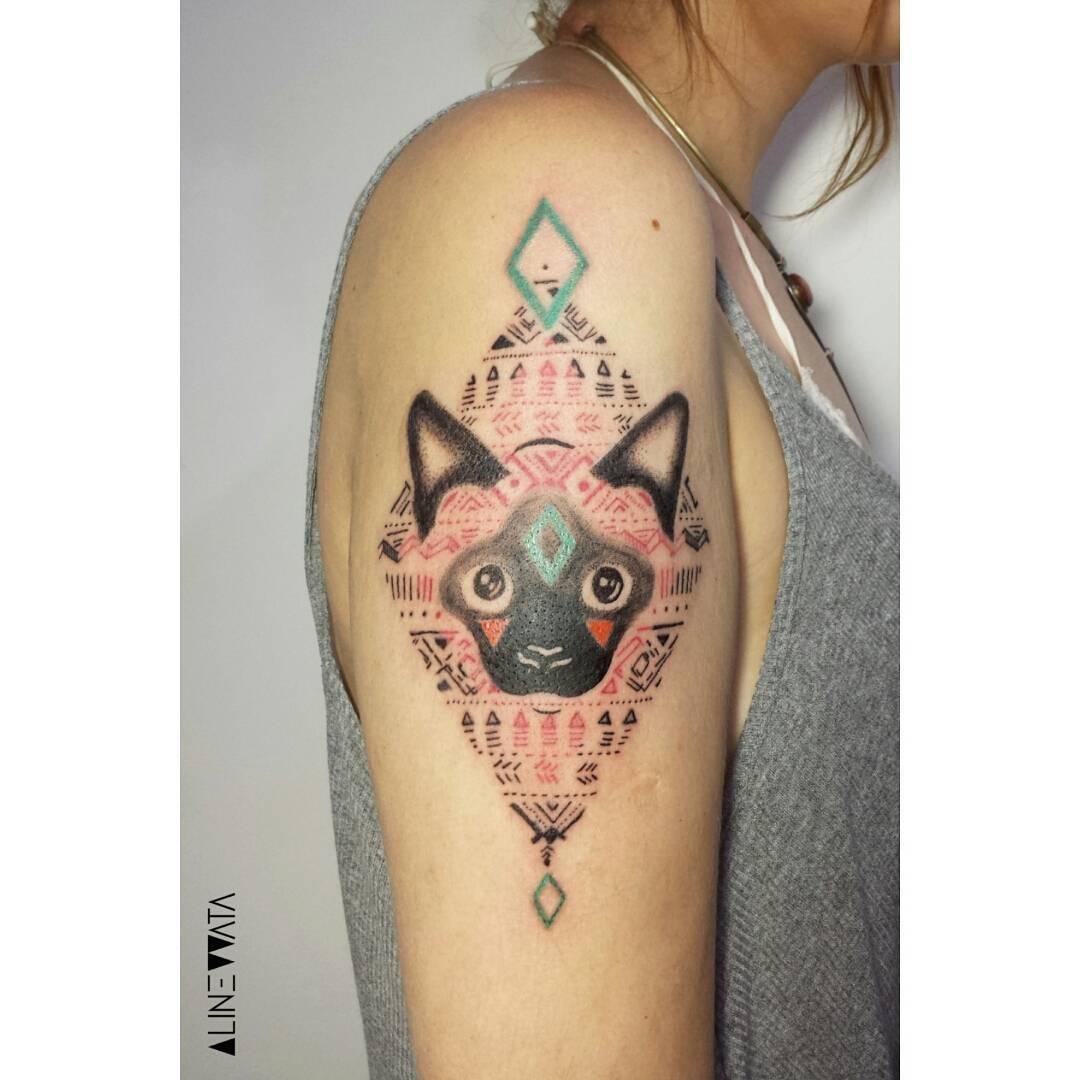 Siamese Cat Tattoo