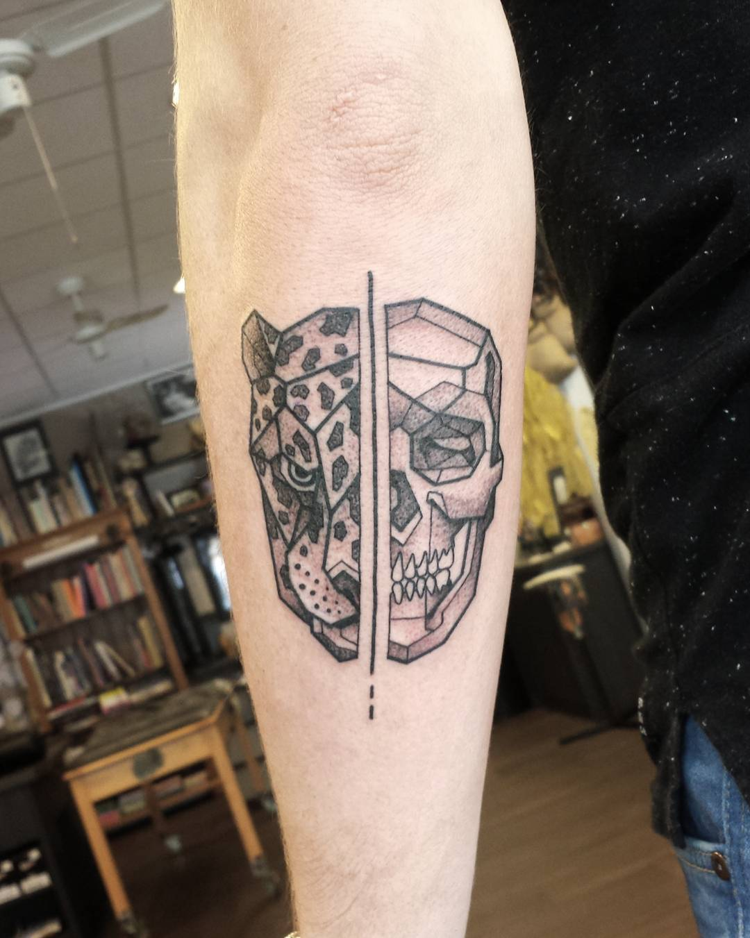 Skull and Leopard Tattoo