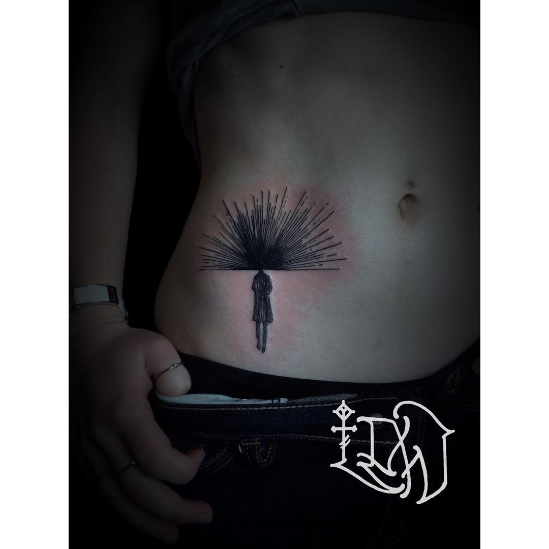 Tattoo Stomach Girl