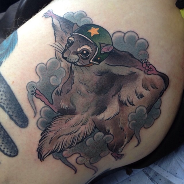 flying Squirrel tattoo