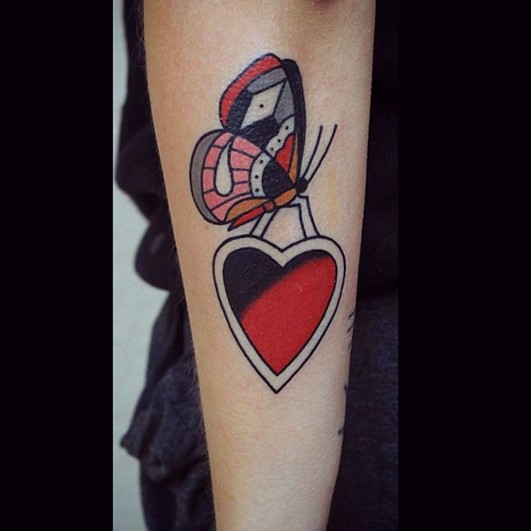 Butterfly Heart Tattoo