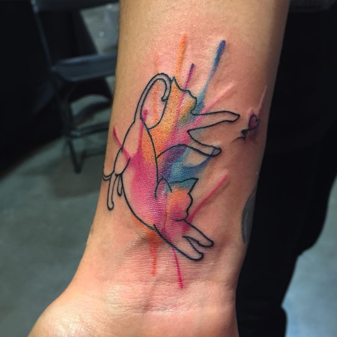 Cat Wrist Tattoo