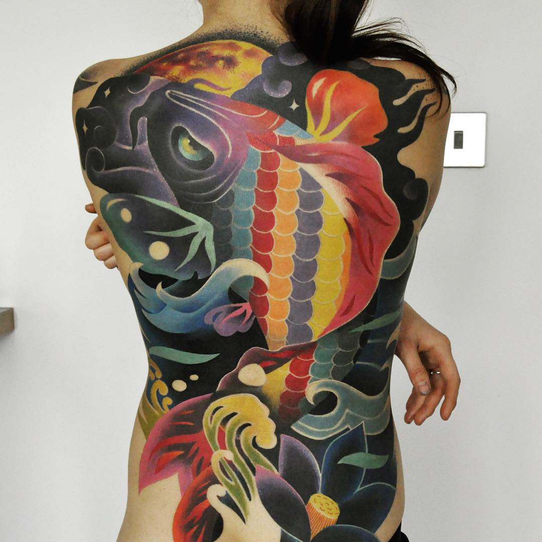 Psychedelic River Tattoo