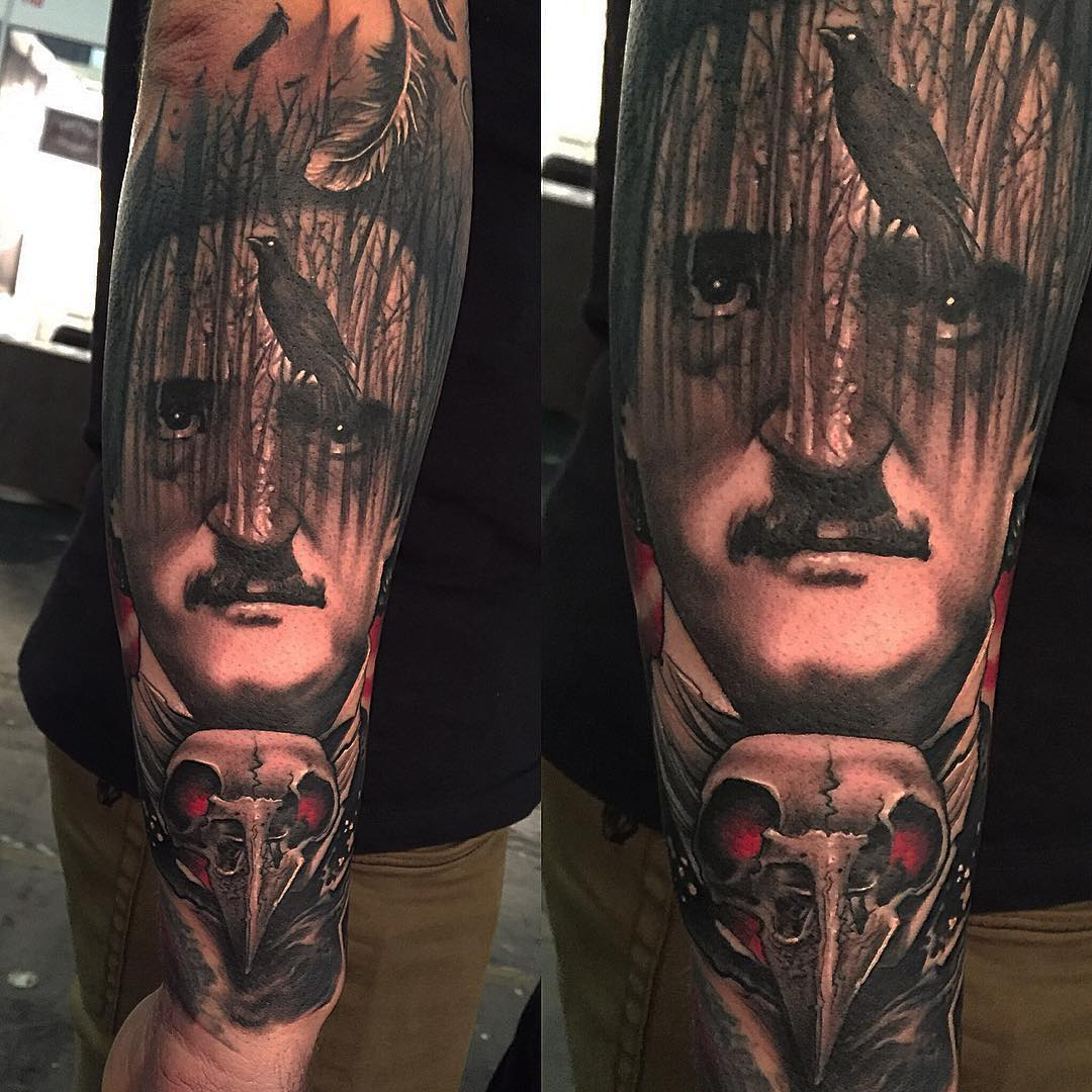 The Raven Edgar Poe Tattoo