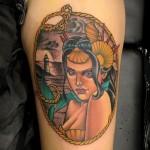 Traditional Mermaid Tattoo