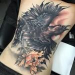 Bird Full Back Tattoo