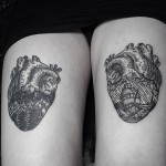 Heart Thigh Tattoos