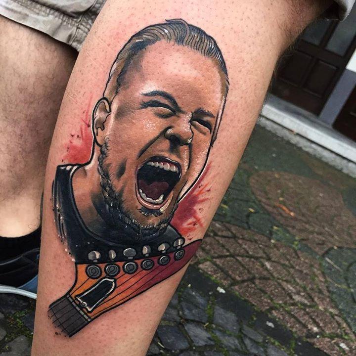 James Hetfield Tattoo Portrait