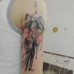 Man in Rain Tattoo