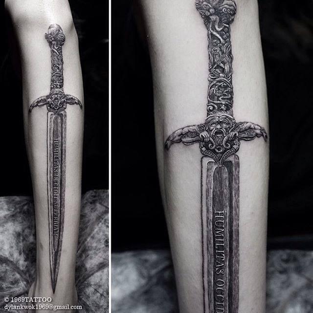 cool sword tattoo
