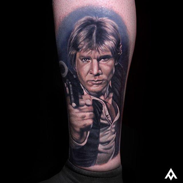 star wars han solo tattoo