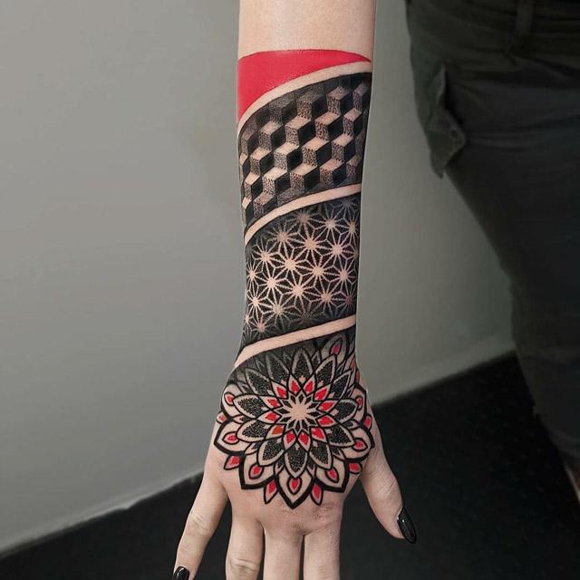 wrist dotwork hand sleeve