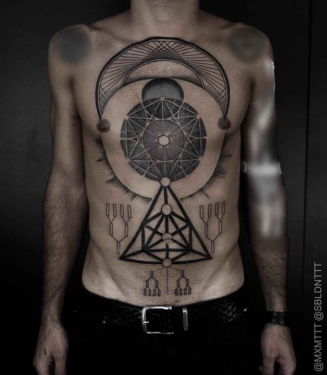 geometric tattoos on body