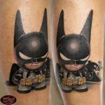 Angry Batman Tattoo Kid