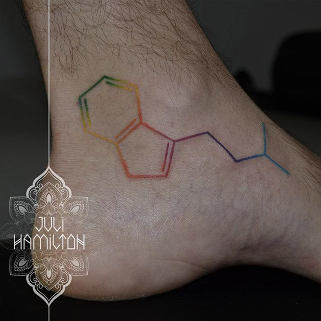 molecule tattoo DMT
