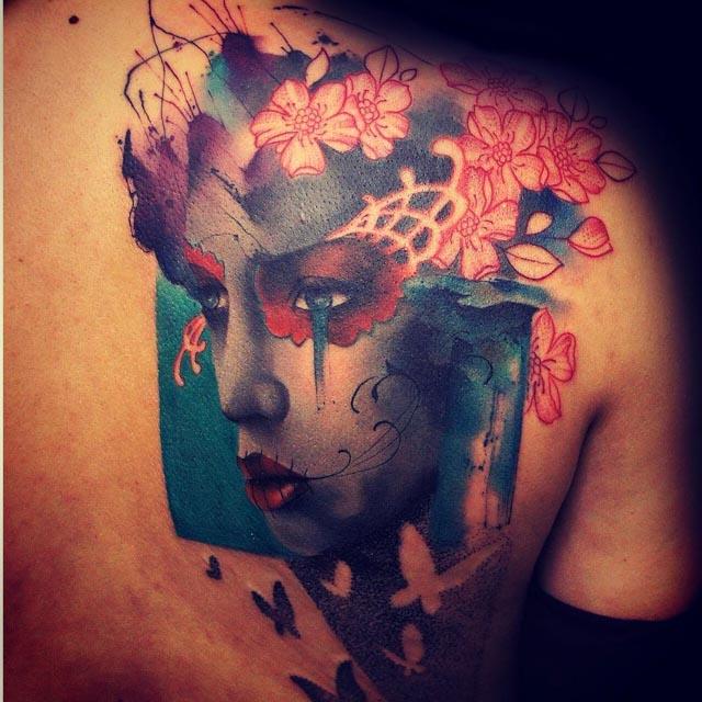 back chicano tattoo piece