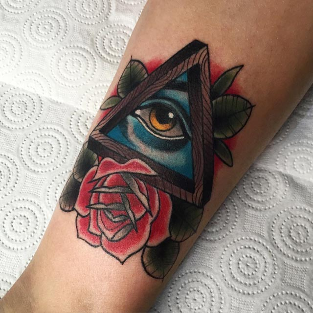 eye of providence tattoo triangle