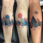 Geometrical Mountains Tattoo