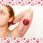 Lollipop Tattoo Inner Arm
