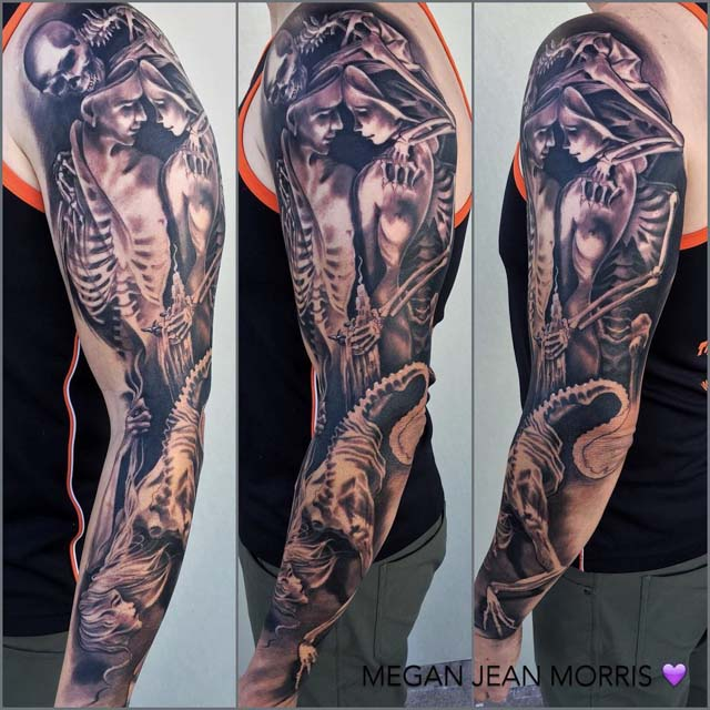love tattoo sleeve