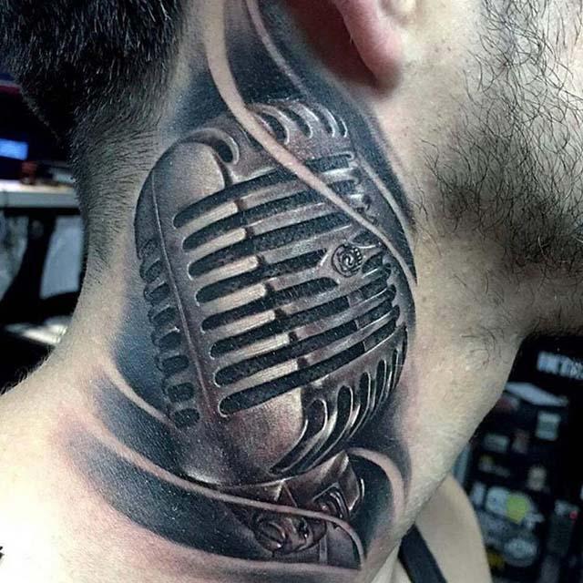 neck microphone tattoo