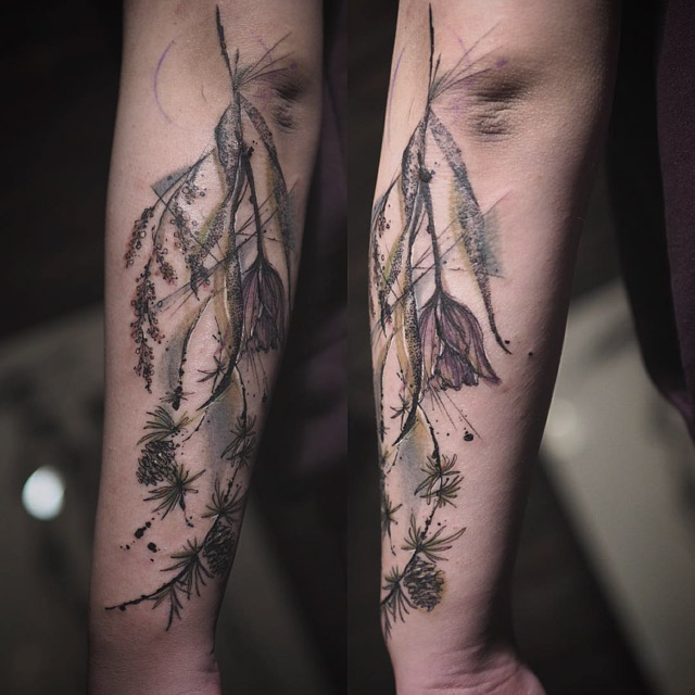 forearm tattoo natural