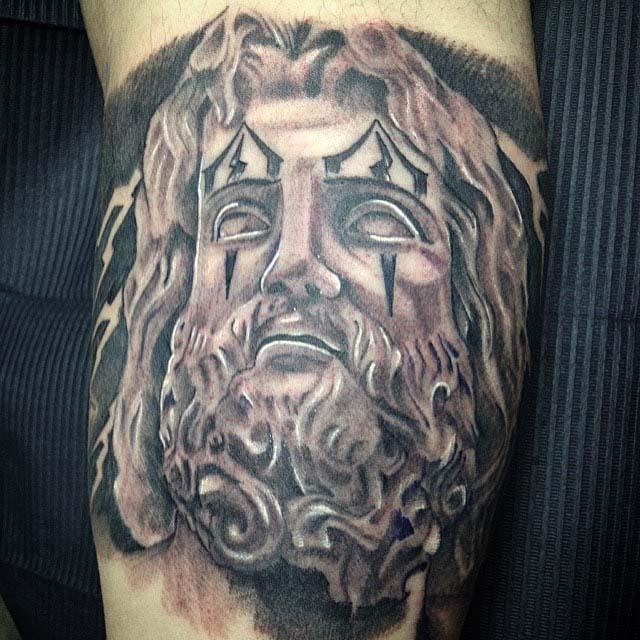 Jesus Drawing Chicano tattoo