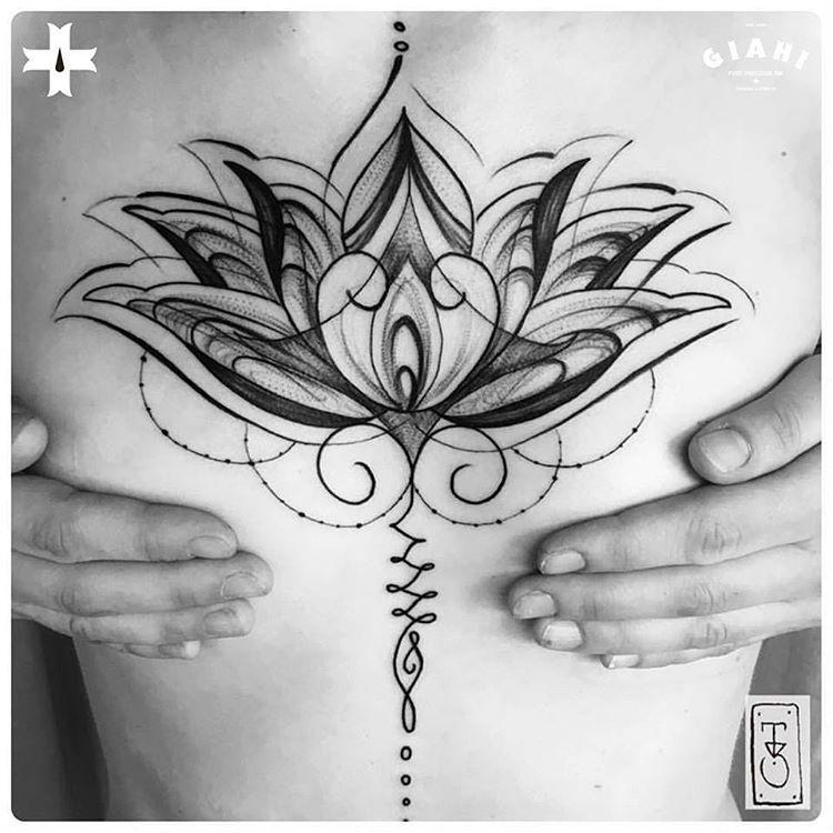 hindu lotus tattoo for girl
