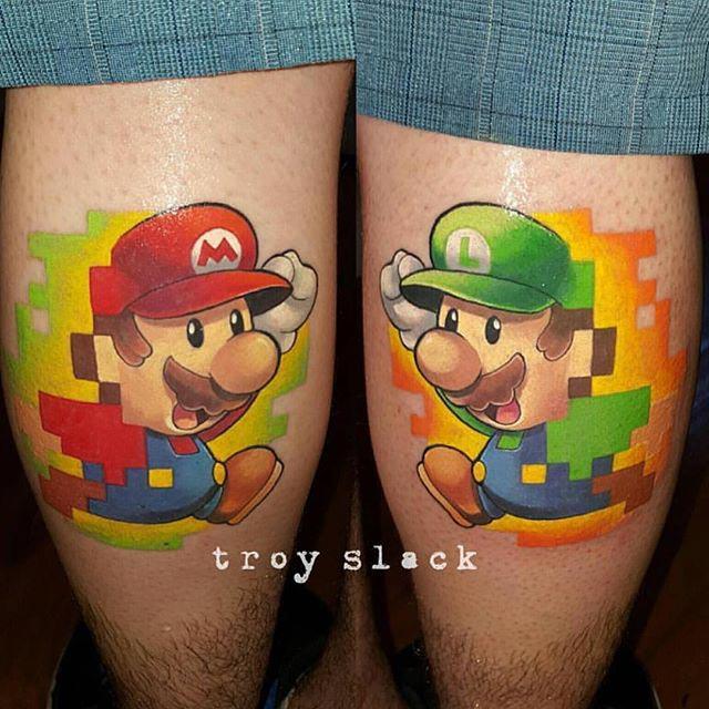 Mario Bros tattoos