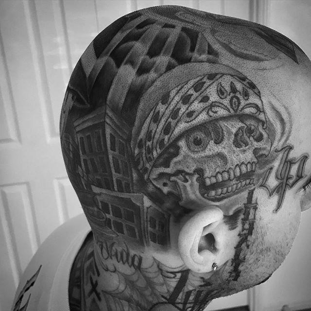 head Mexican skull tattoo