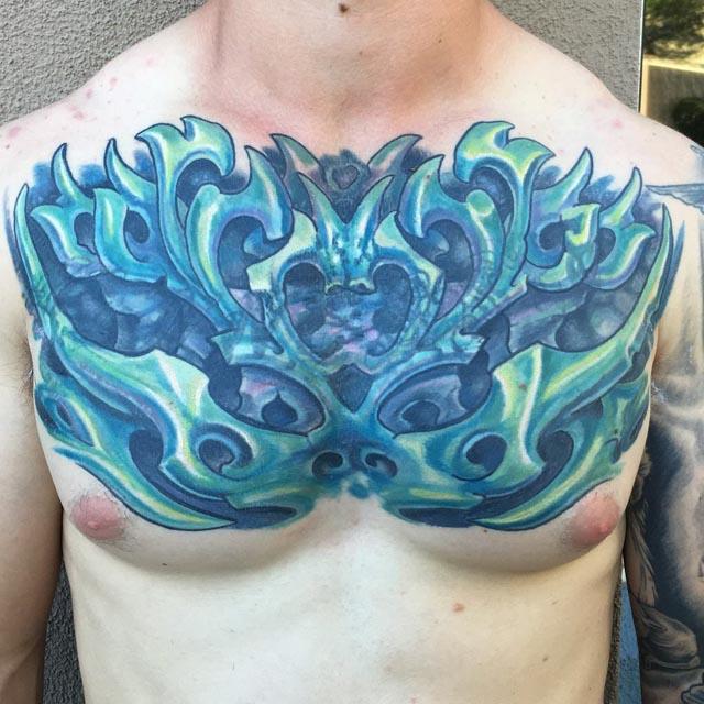 Bio Organic Tattoo on Chest