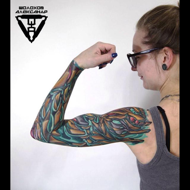 Bio Sleeve Tattoo for girl