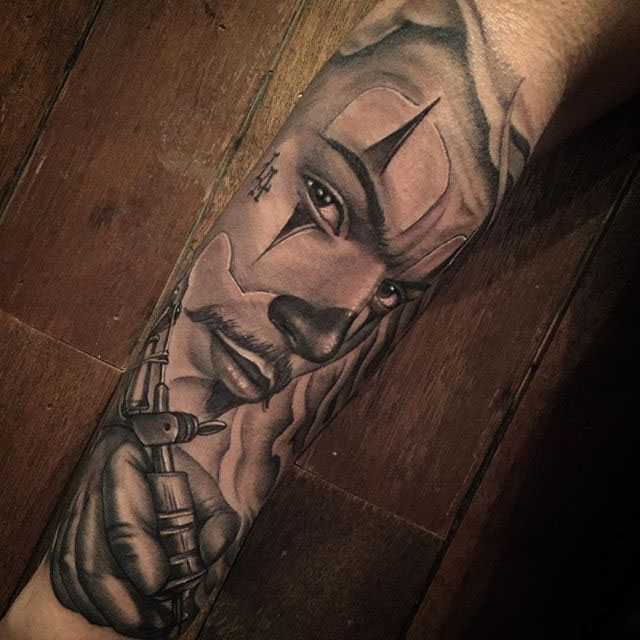tattoo sleeve Chicano style