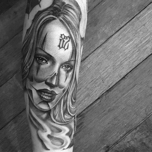 tattoo woman Chicano