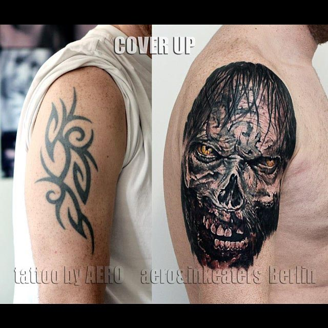 Dark Tattoo Cover Up