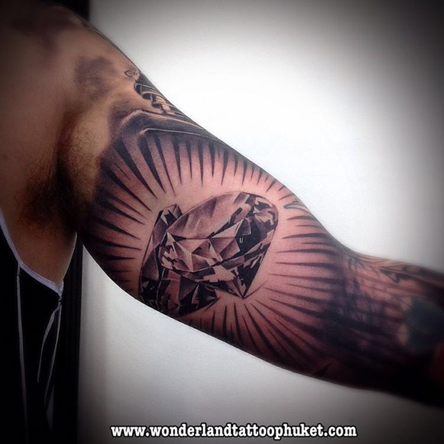 Diamonds Tattoo by wonderlandtattoo_phuket