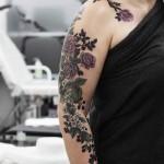 Flowers Sleeve Tattoo