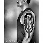 Geometric Tree Tattoo on Shoulder