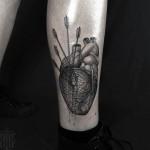 Heart Arrow Tattoo