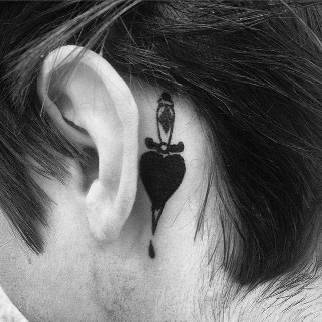 Heart Dagger Tattoo