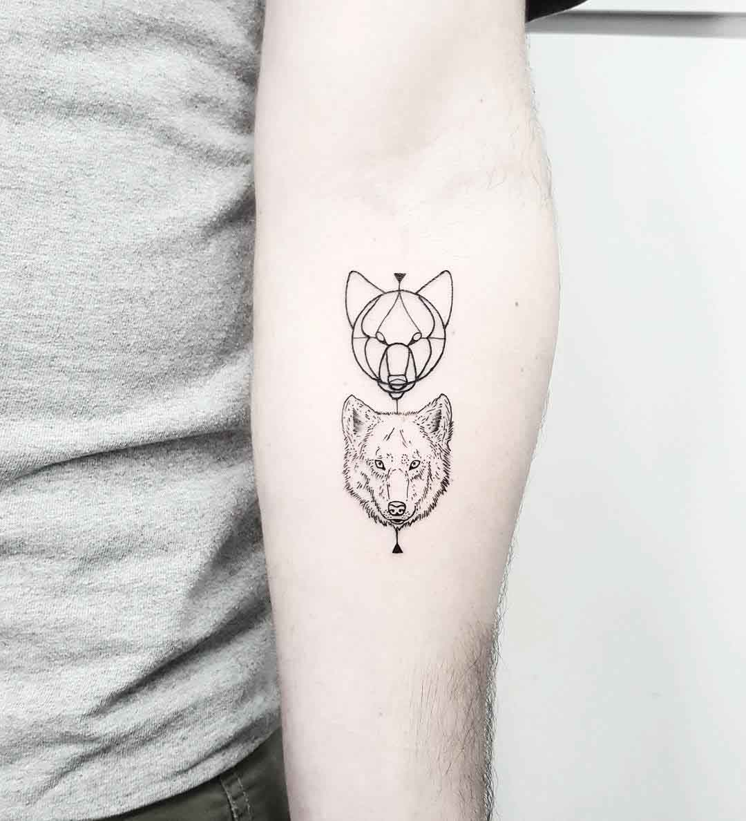 wolf tattoo how to