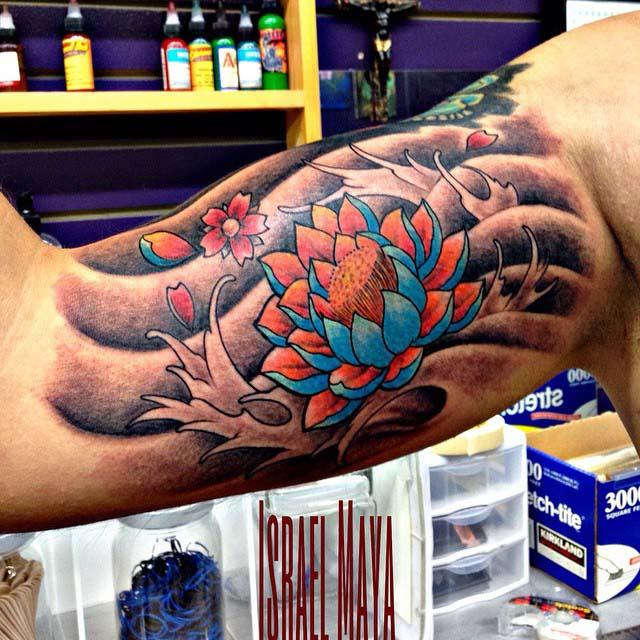 Japanese Bicep Tattoo by tattooartbymaya2